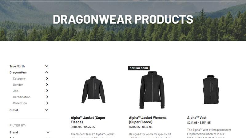 Dragonwear Retail Products